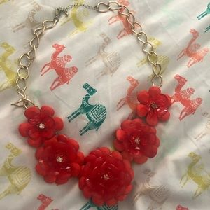 Lovely floral costume statement necklace
